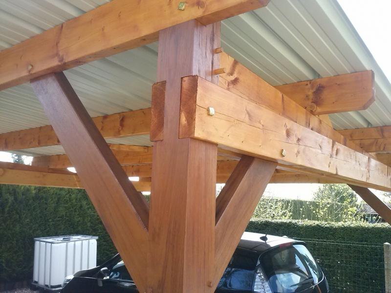 carport pesqueux charpente charpentiers sp cialistes. Black Bedroom Furniture Sets. Home Design Ideas